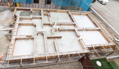 基礎内部のコンクリートを打設した後の画像